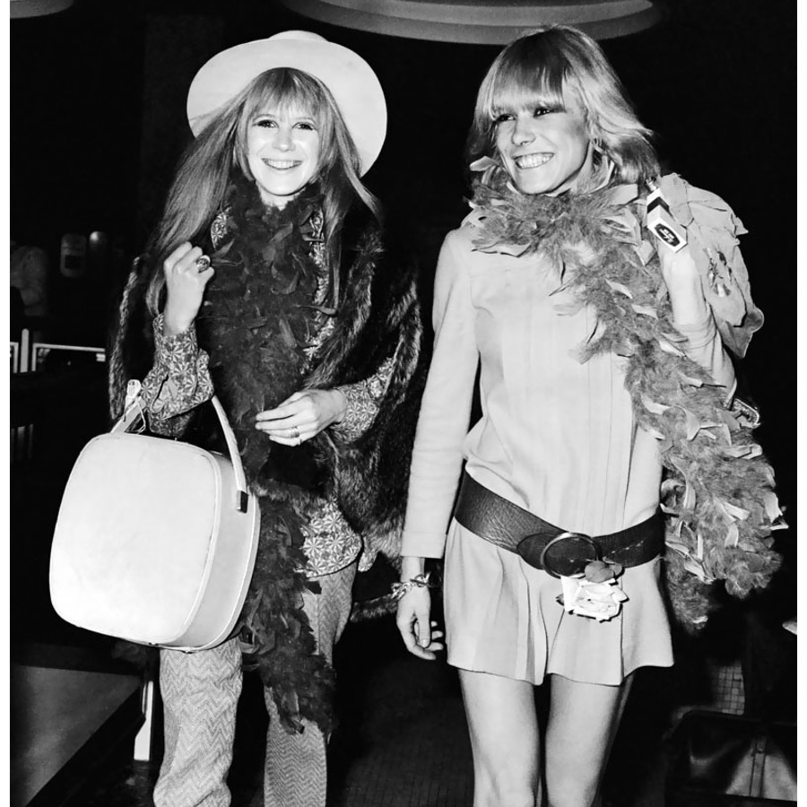 1970s Marianne Faithful and Anita Pallenberg wearing boho styles you'll see now.