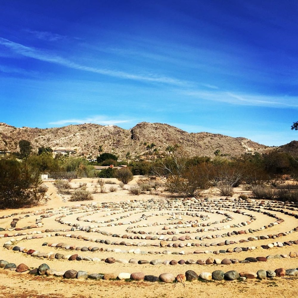 Labyrinth at the Franciscan Renewal Center in Scottsdale, Arizona.