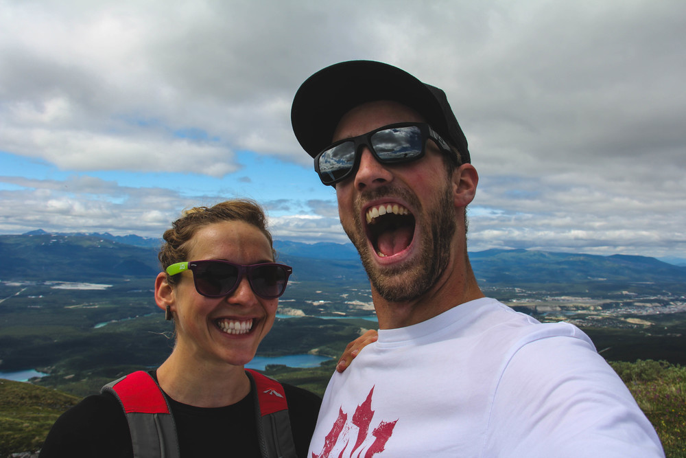 A picture from the top of Grey Mtn, in Whitehorse, YT.