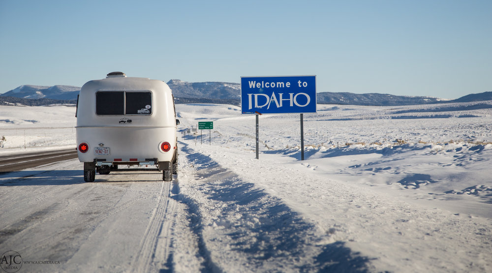 Entering Idaho...or Alaska, I'm not sure, I may have misread the sign.