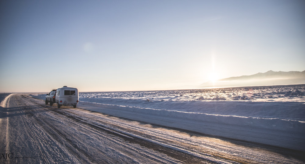 Temperatures were in the area of -15*C on this section of road.