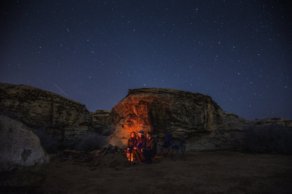 Our first night together was pretty epic.  The first campfire since the beginning of the trip, stars were out and the company was top notch!