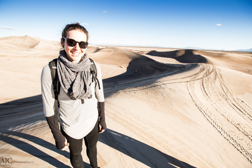 Happy desert-lady.