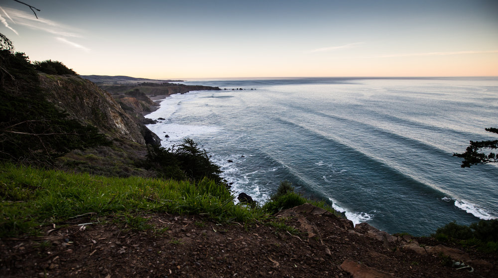 The view from our cliff-top perch near Ragged Point, CA.