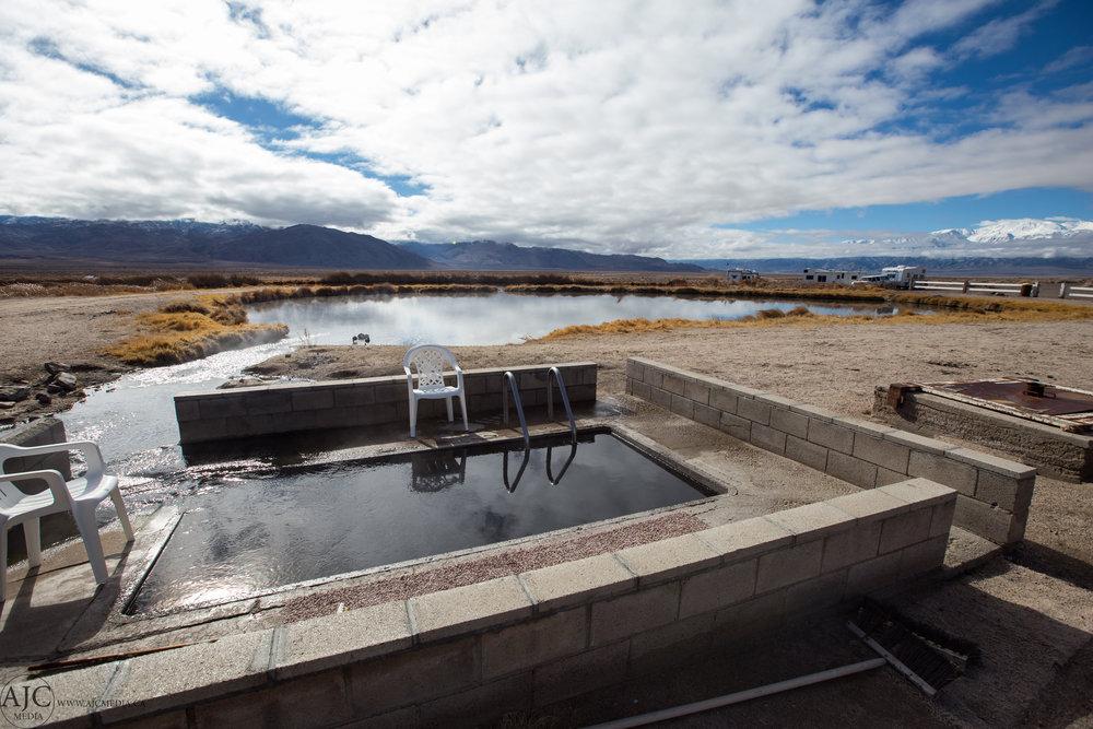 The very wonderfully built Fish Lake Hot Spring tub.