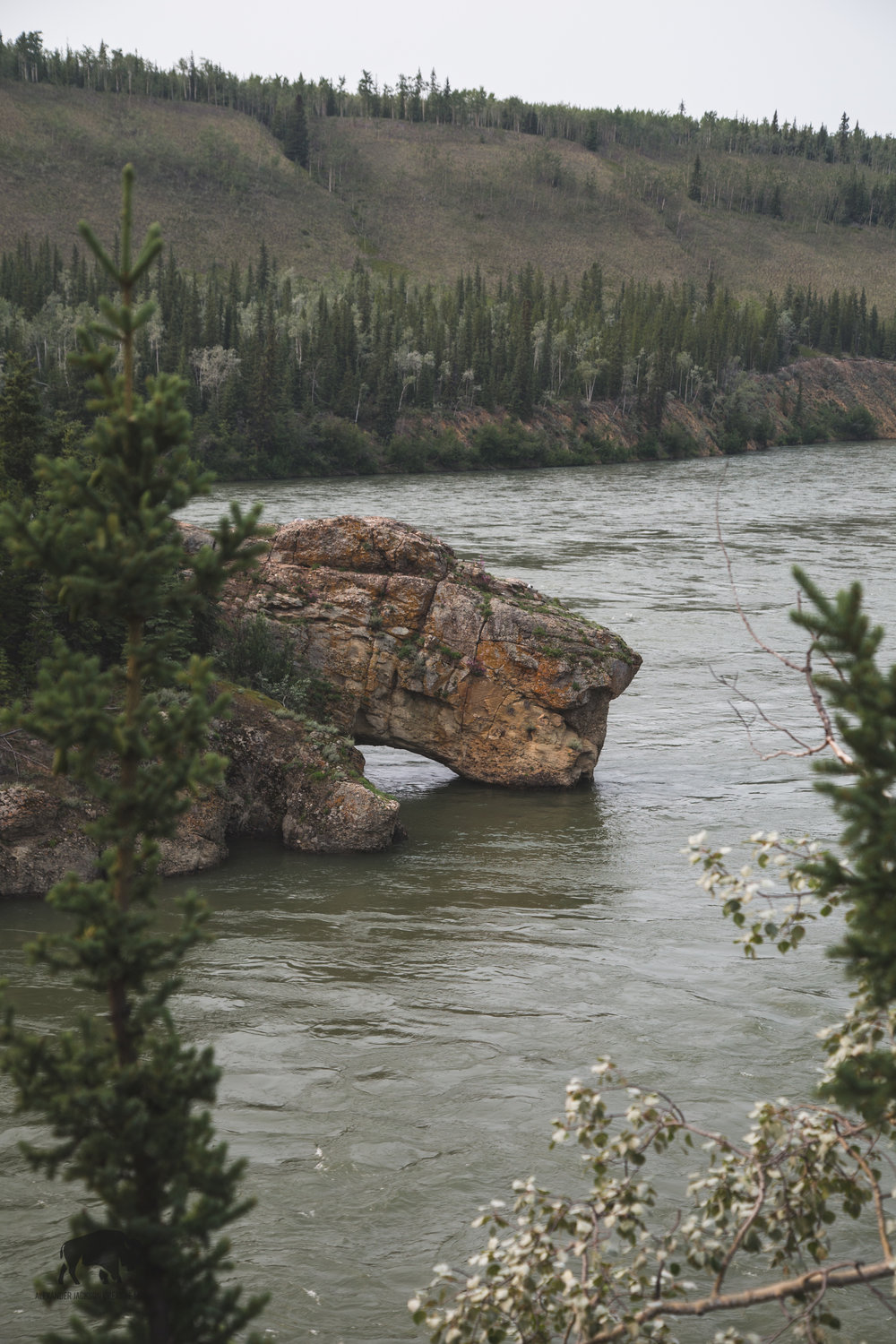 Long ago stern wheelers passed this rock.