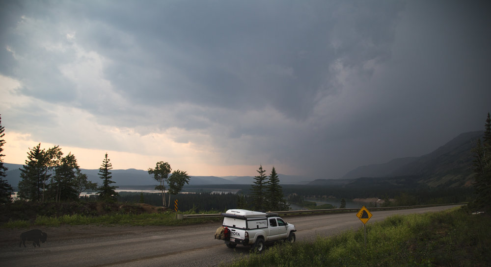 Threatening clouds. That was the heaviest rain fall I have seen on the trip thus far.