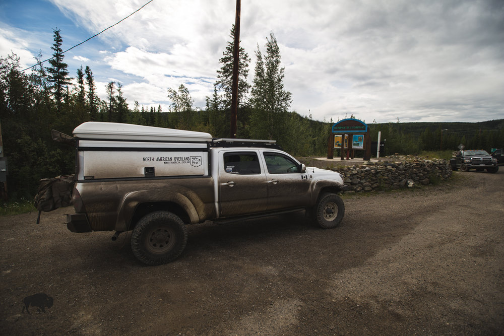 Half way through my journey back from the Arctic Circle my truck was cleaner despite the deep mud I drove through. At the end of my journey, sans rain and less mud I was far dirtier.