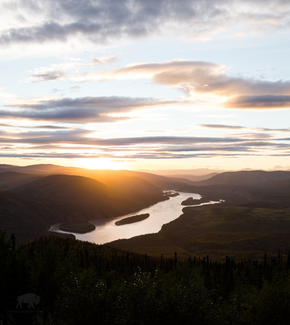 I leave you with this image of the Yukon river from the top of the Dome near Dawson City.