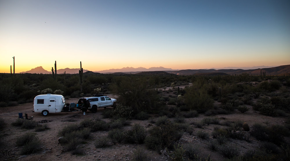 We stayed in Bulldog Canyon near Apache Junction, AZ for about three days.  You simply need to go to the ranger station in town to obtain a permit then you can access the area and stay for up to a month.