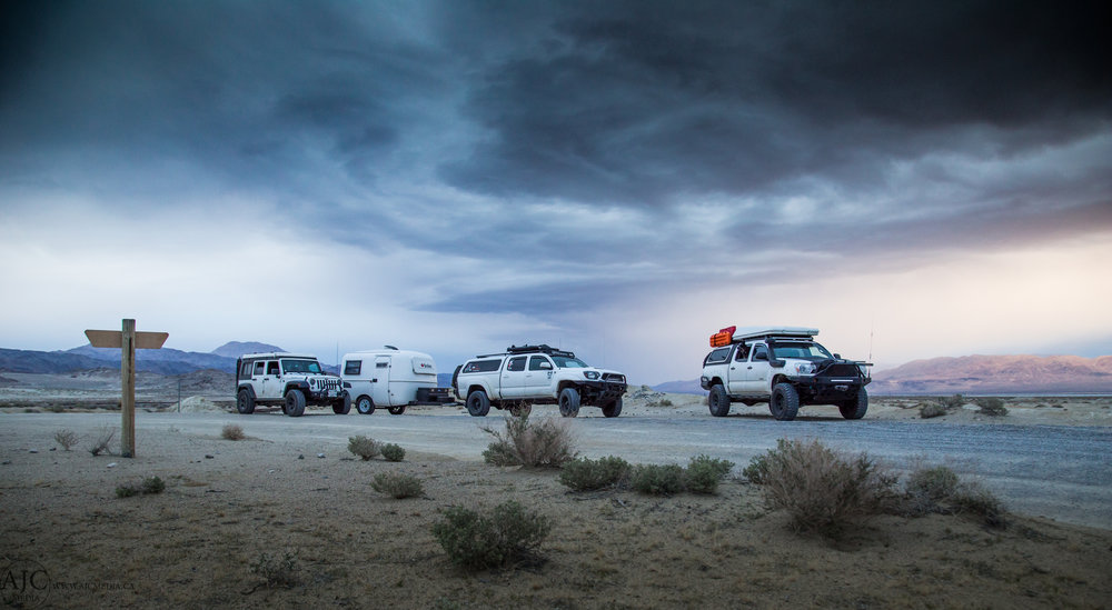 Instagram is an amazing tool not for just sharing photos but also for meeting people.  I met Andy and rolled out with his crew to Trona Pinnacles in Southern California.  We had a night of campfire, beers and idle conversation before they made their way to the Sierra's for a weekend of wheeling.