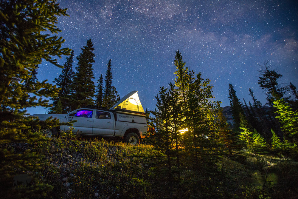 Starry nights with new friends in the Rocky Mountains.