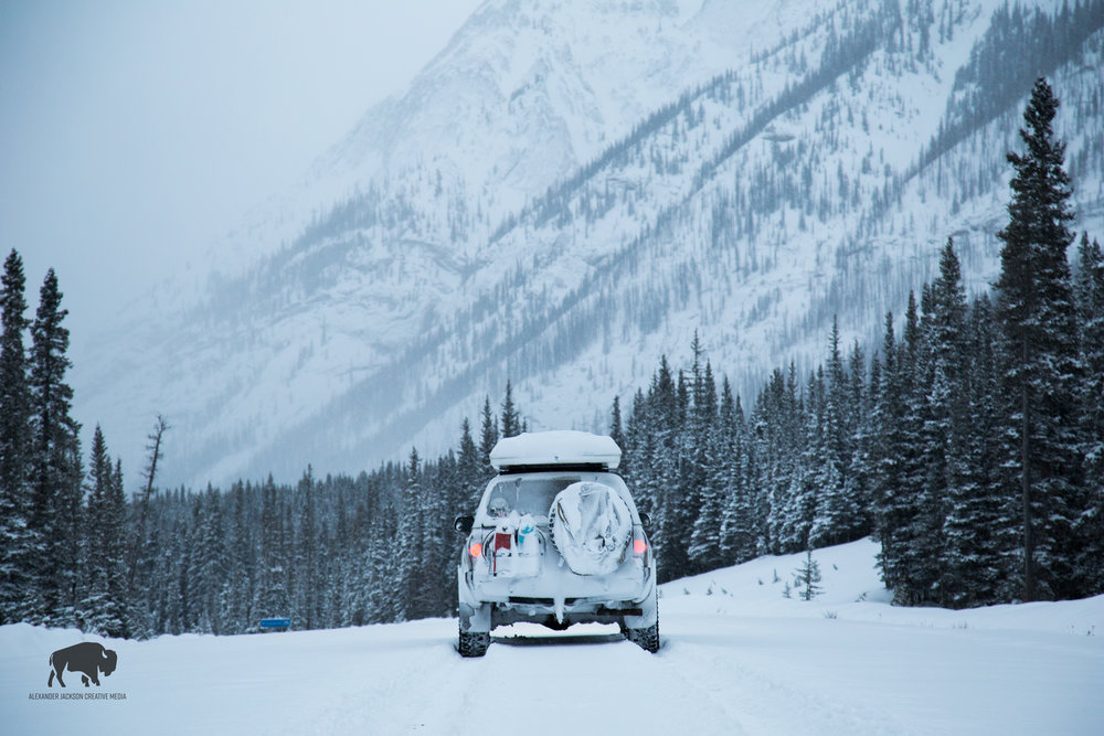 I drove to the Spray Lakes area in Canmore to test out my new tent the day I bought it.  I woke up the next morning with a foot and a half of snow around me.  It was a blast driving through the fresh powder at 70kph.