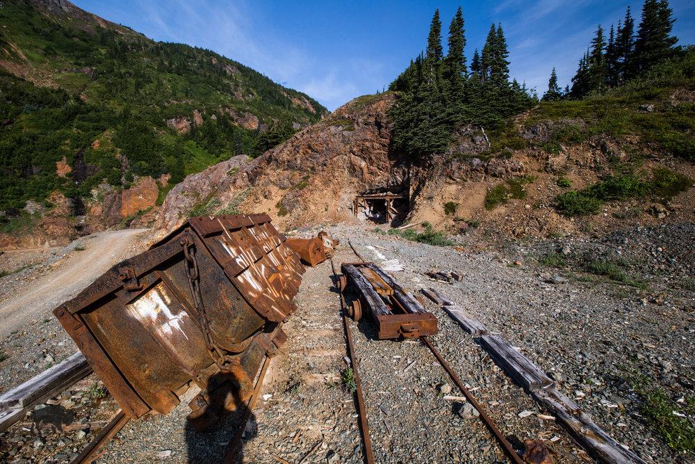 Derelict mining equipment.