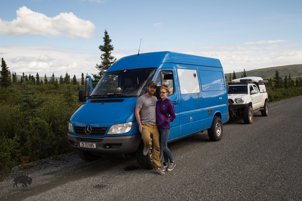 My two swiss friends from the road in their bad ass 4x4 sprinter.