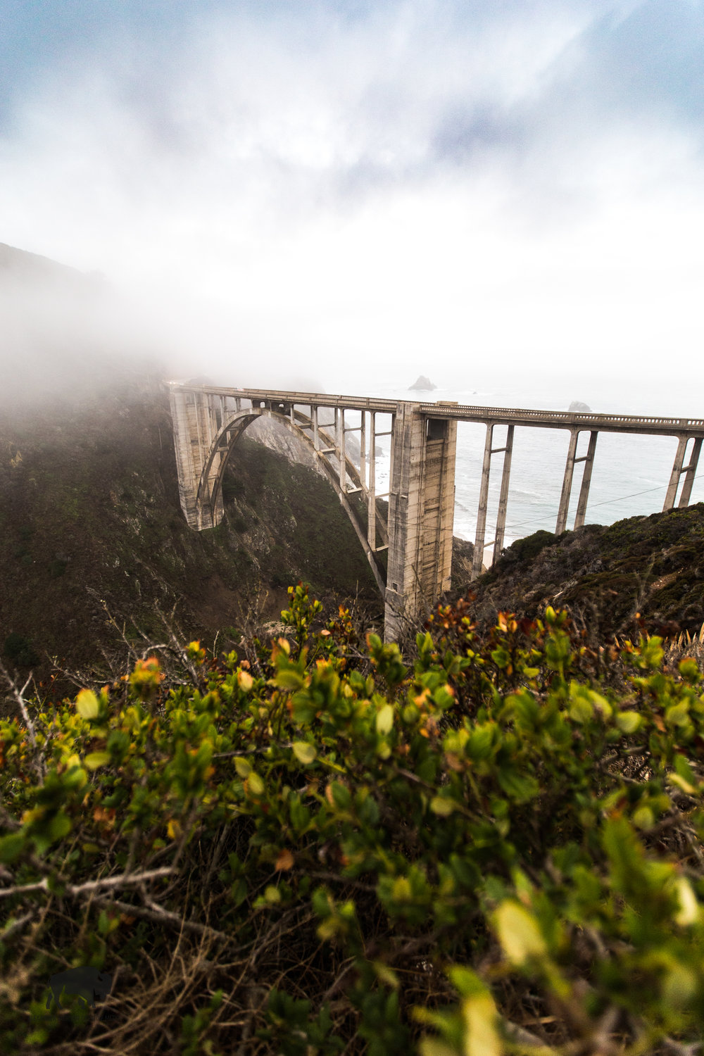 Bixby Bridge on the CA1 South of Monterey, California.