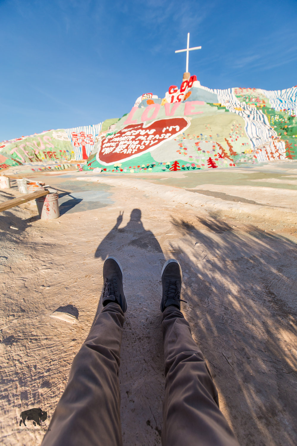 Salvation Mountain near Slab City, California.
