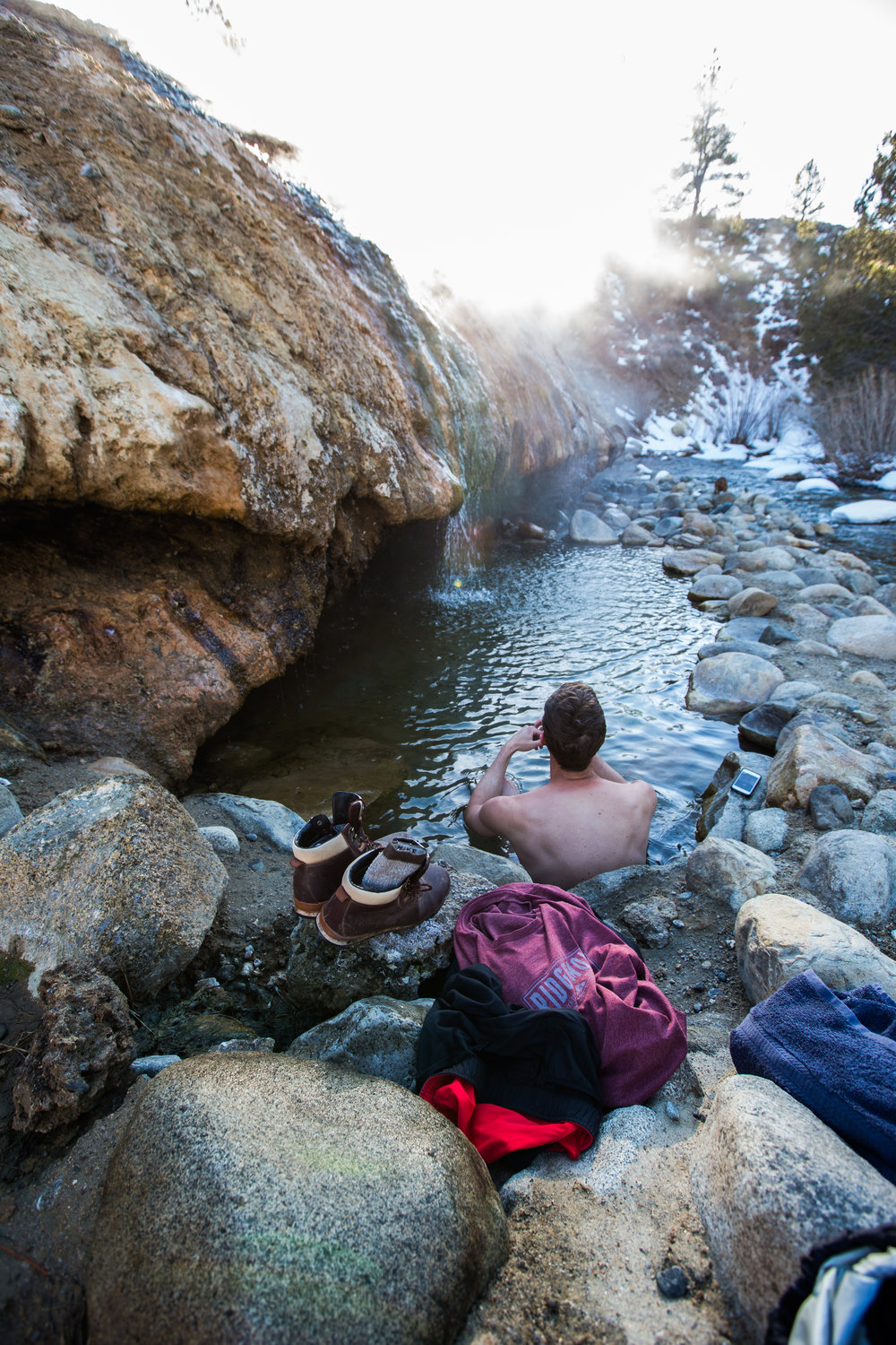 Buckeye Hot Spring, California.