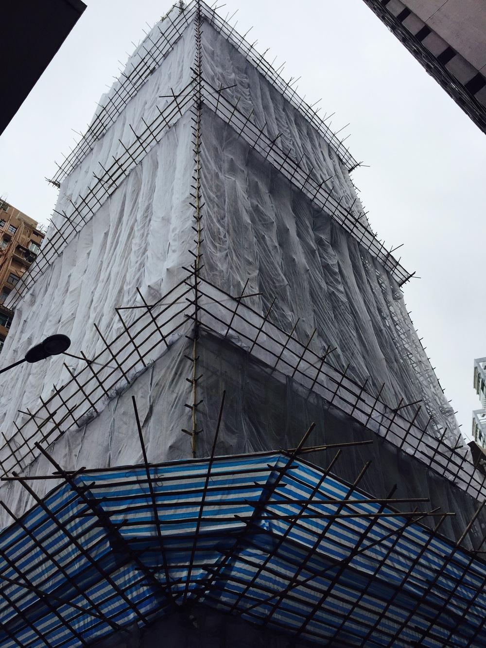 Bamboo scaffolding!