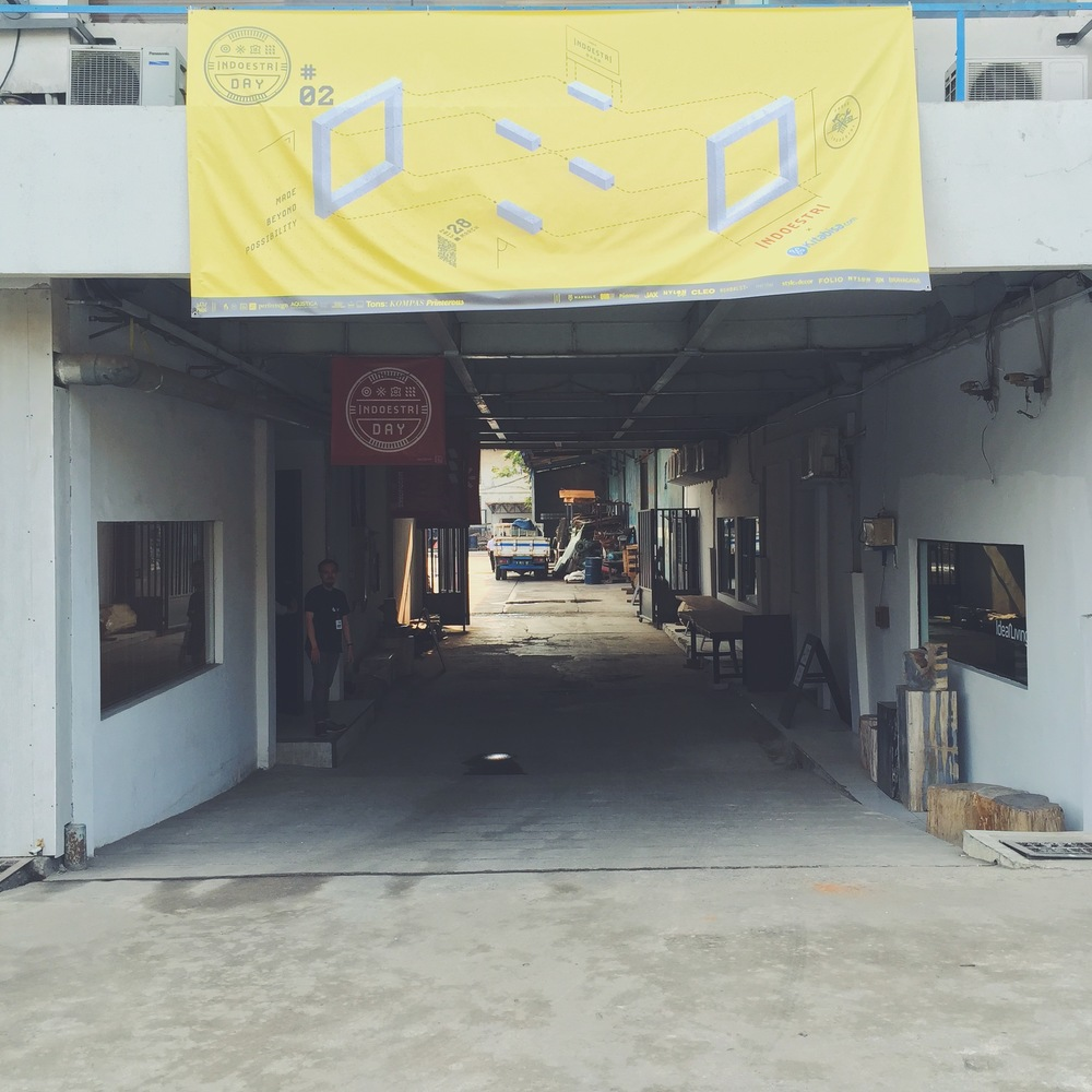 The entrance to Indoestri, a space offering classes and support to Jakarta's growing maker scene.
