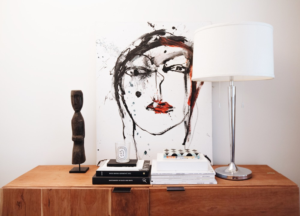 Painting by Francesca Brenda,  Rex Sideboard  (prototype) by Coil + Drift