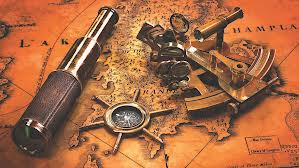 Spyglass, Compass, and Sextant