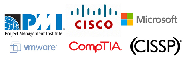 IT certification logos