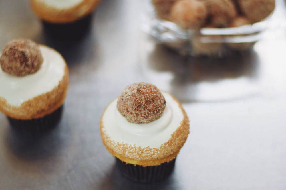 Topped with one of our Cinnamon-Sugar Cake Doughnut Holes.
