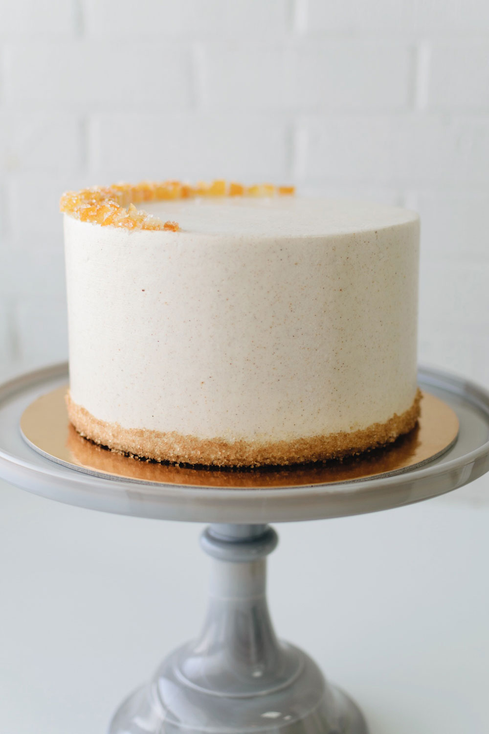 CARROT - carrot spice cake | cream cheese filling | cinnamon buttercream icing, candied orange peel crescent