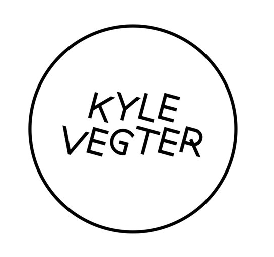 Logo and online identity for composer, producer and cellist Kyle Vegter. ( View site .)