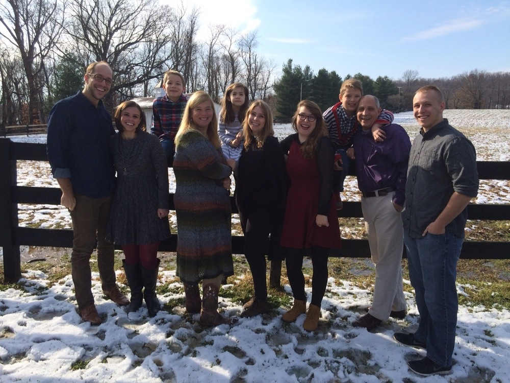 The Chapple Family, from left to right: Alex Chapple, Mallary Chapple (Alex's wife), Sam Chapple, Holly Chapple, Grace Chapple, Abby Chapple, Hannah Chapple, Eli Chapple, Evan Chapple, and Riley Chapple.