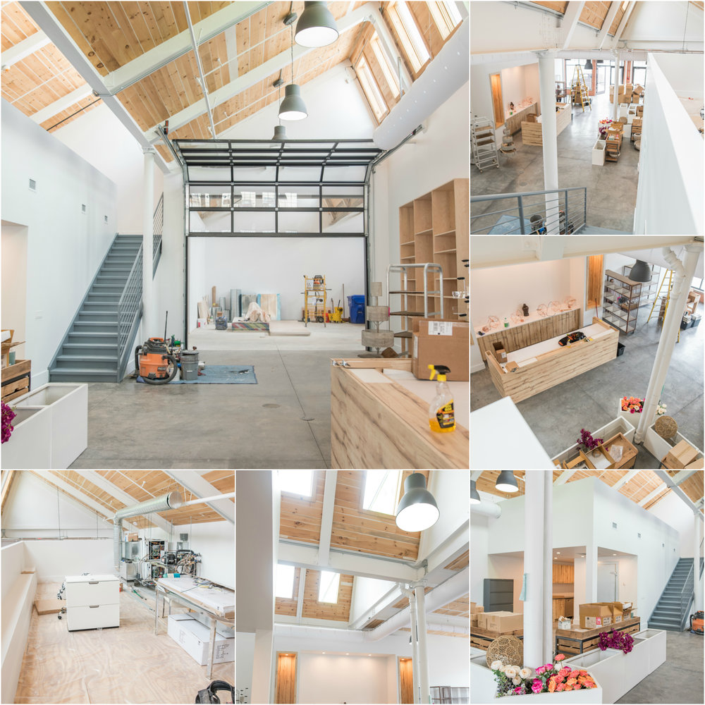 Stacy K Floral's beautiful new headquarters in progress (2016)  Images courtesy of  Freshedge Photography