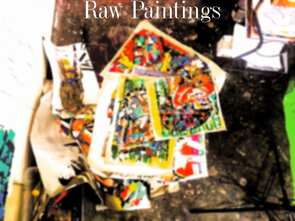 RAW PAINTINGS - UNCUT, UNSTRUCTURED.My Raw Paintings are an affordable way to get in on my original art action. Prices begin at $45