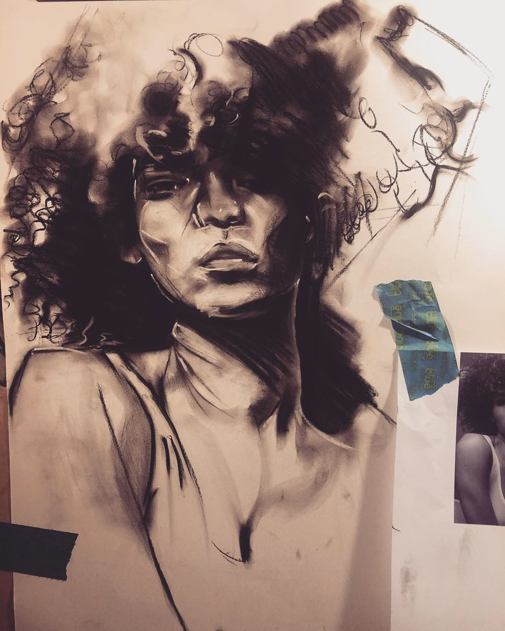 MESSY SKETCHES FROM A MESSY MIND - Original 18x24IN Charcoal & Graphite Sketches starting at $55.00