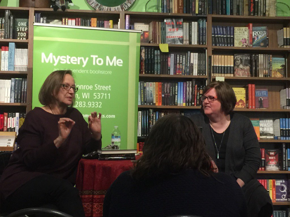 With award winning author Lori Rader-Day at Mystery To Me in Madison, 2017