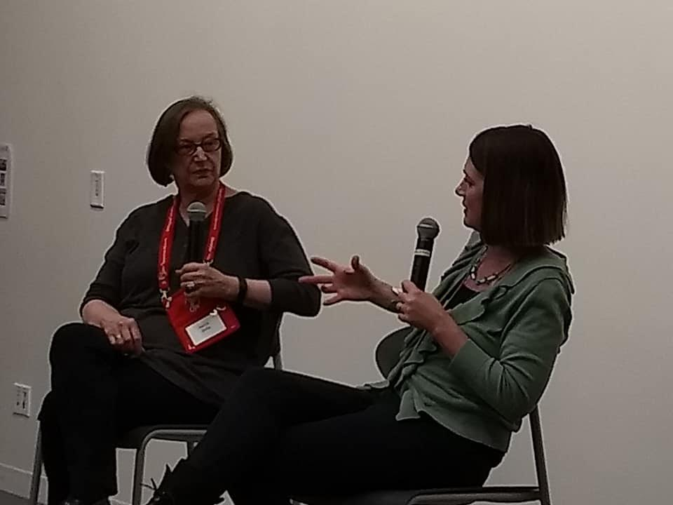 Interviewing best selling mystery writer Gillian Flynn at Murder and Mayhem in Chicago, March 2018