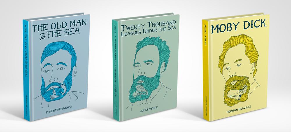 The Sea Author Series by nicknack.com