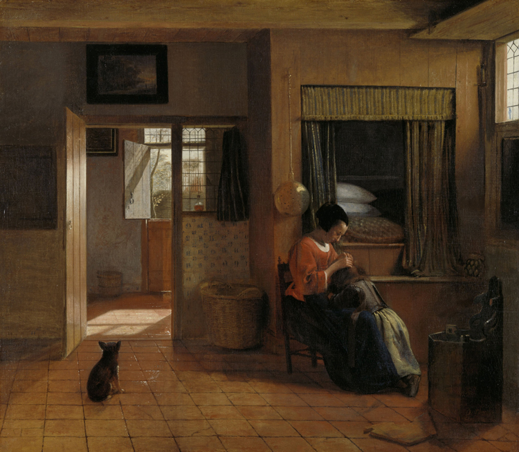 A Mother's Duty by Pieter de Hooch in the Rijksmuseum, Amsterdam