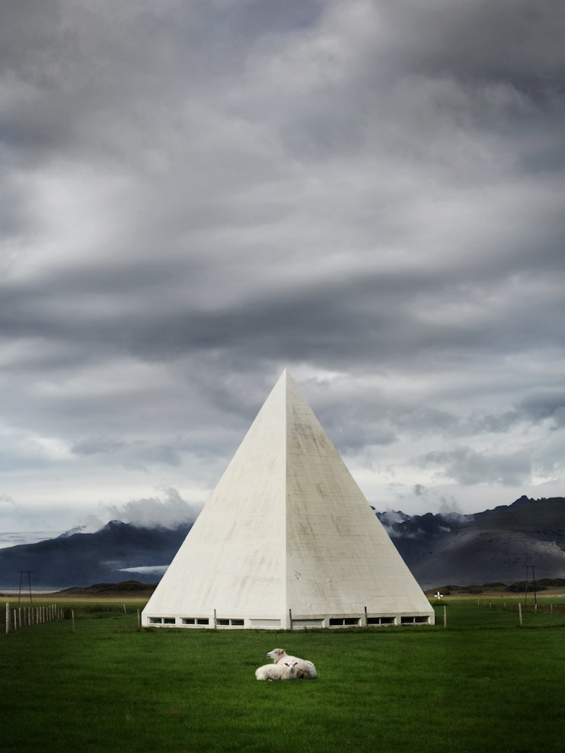 Facing the enormous glacial tongues of Vatnajökull, the stark modernist architecture of Bjarnaneskirkjacoupled with the landscape creates a setting that is nothing short of surreal.