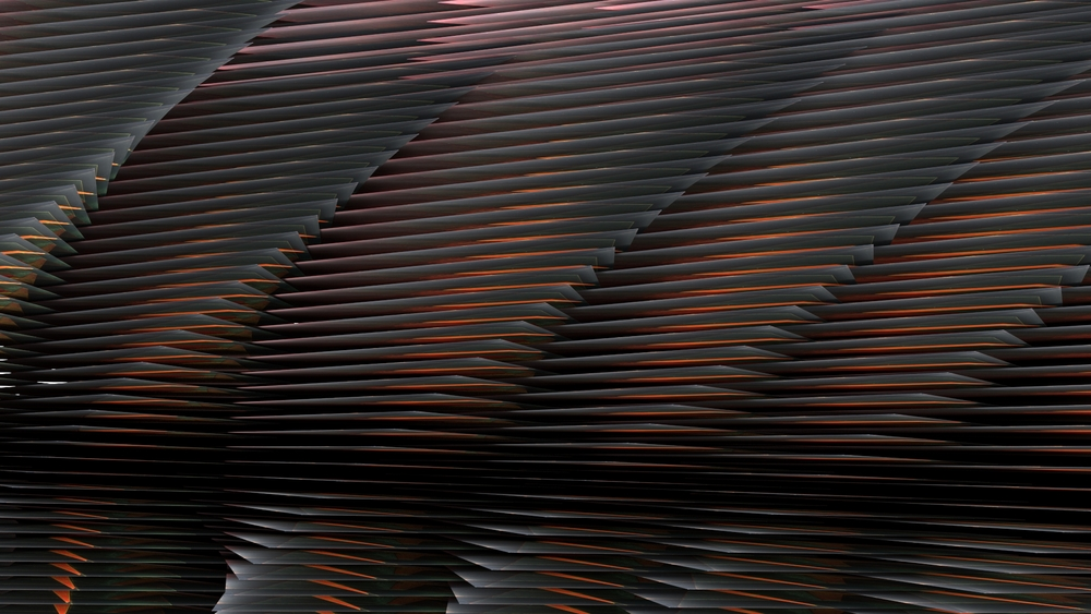 Elevation no. 3, digital image rendered with 3D modeling software, 2014