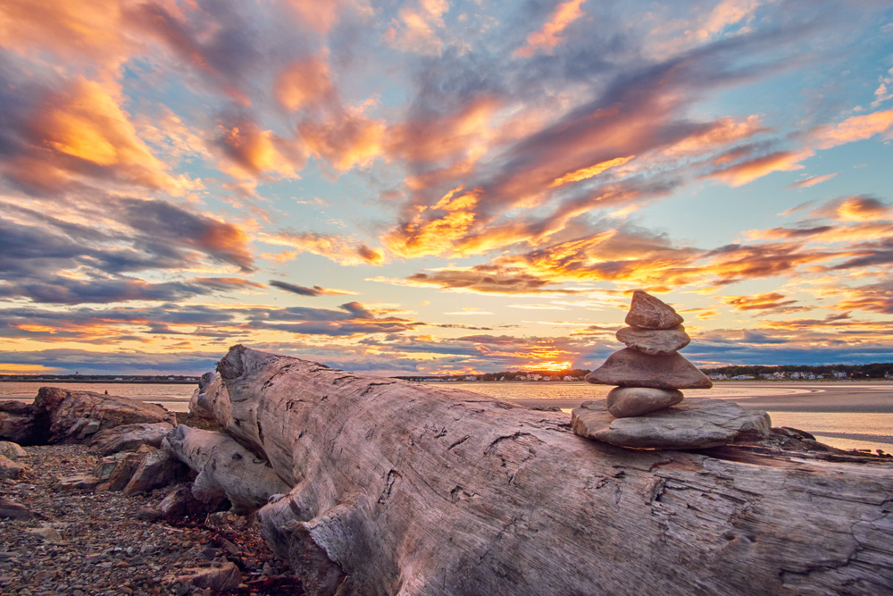 Stacked Rocks Sunset