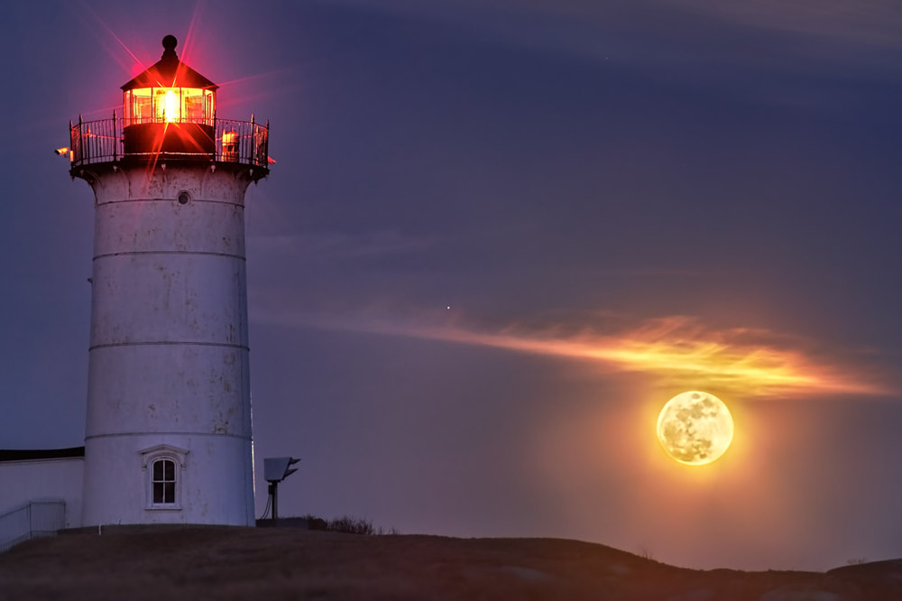 Nubble Light Moonrise