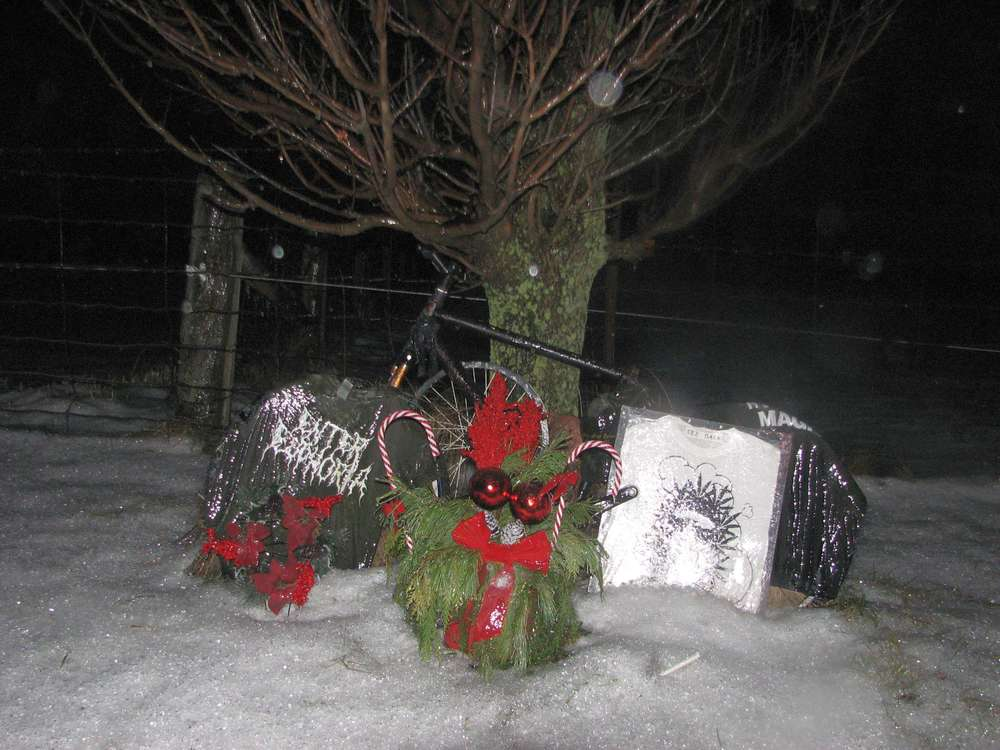 A roadside memorial on King Street.