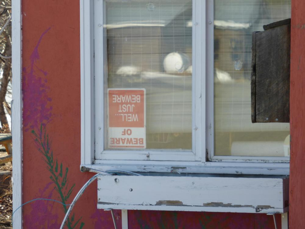 "Beware of upside down ""beware of"" signs!"