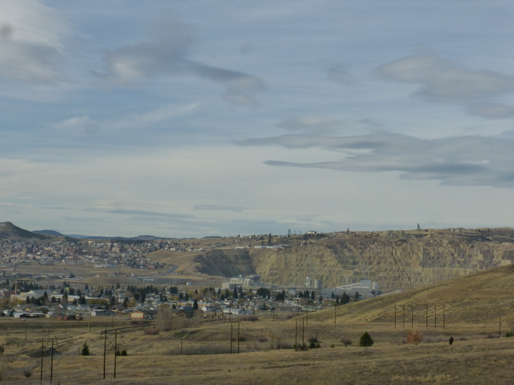 Unlike other mining towns, Butte's mines are near, in and UNDER the town.