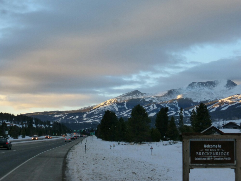 The ski town of Breckenridge