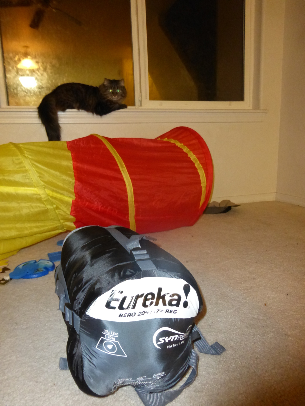 The Eureka Bero sleeping bag, cat not included