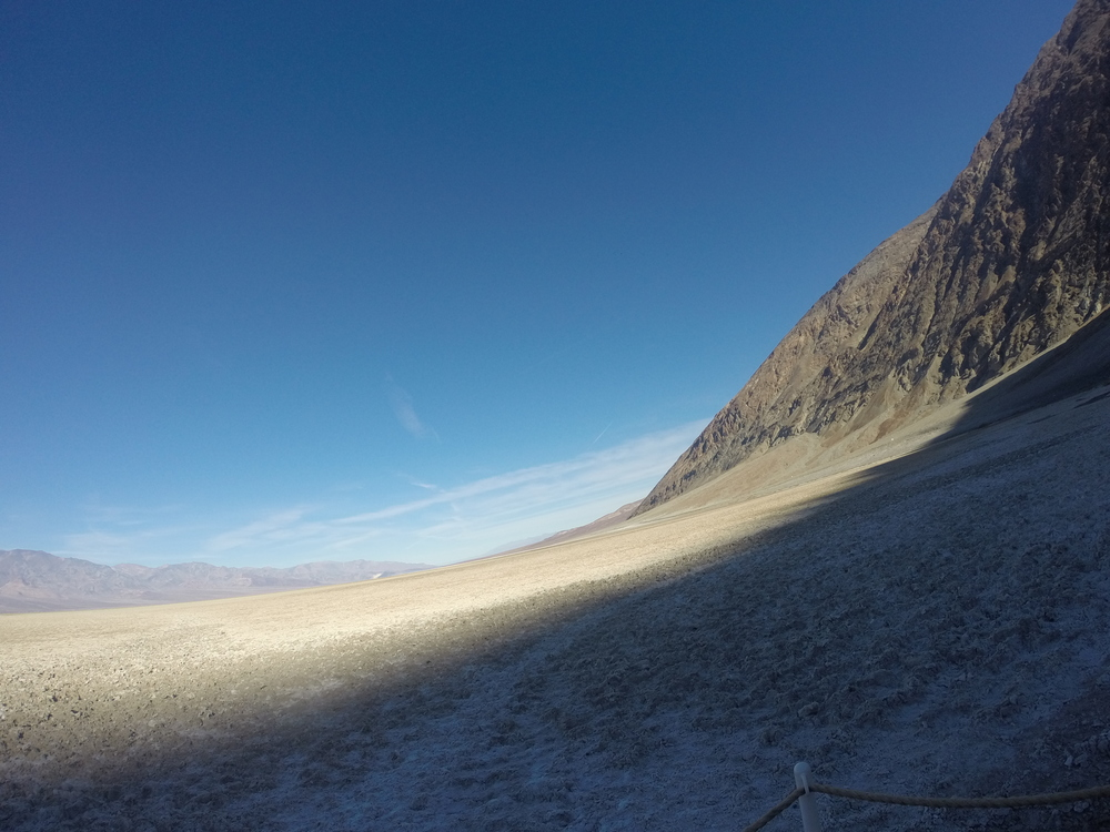 This shot of Badwater basin showcases my skills of holding the camera horizontal.