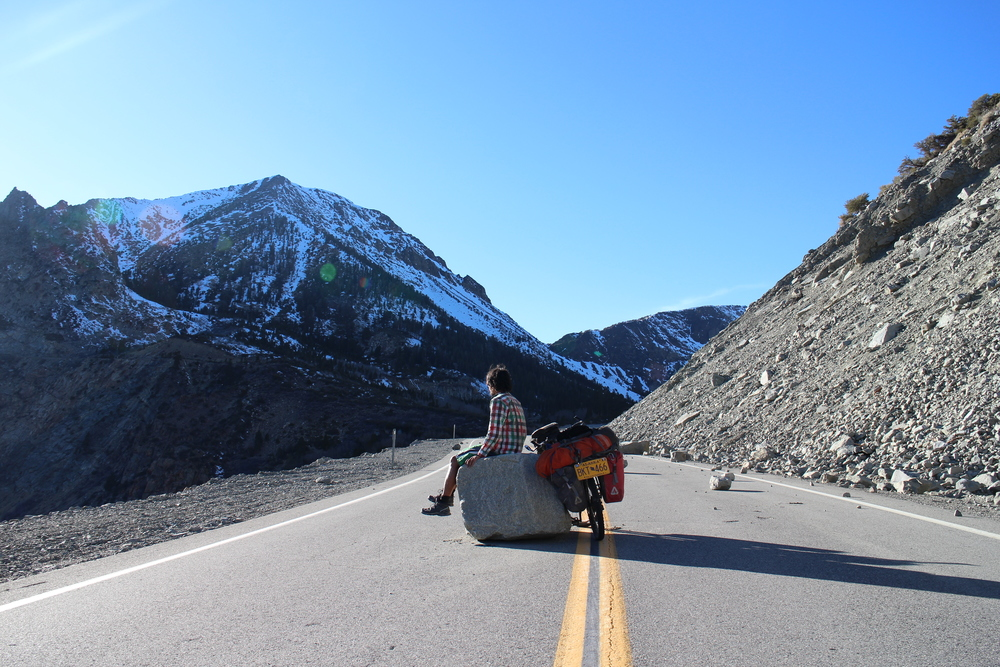 Fallen boulders made excellent rest stops