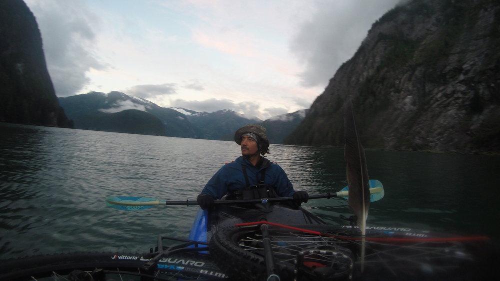 Ocean channels in British Columbia, Canada